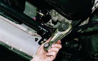 Замена подушек двигателя