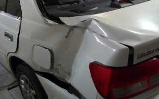 Восстановление заднего крыла Тойоты