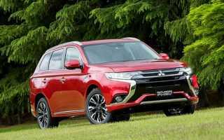 Обновленный кроссовер Mitsubishi Outlander PHEV 2017