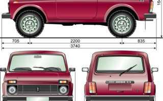 Ваз 2131 размеры кузова