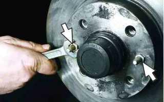 Как поменять тормозной диск на ваз 2110