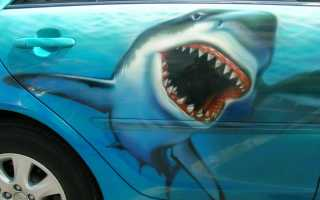 Аэрография акула: варианты при нанесении на авто