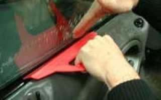 Как тонировать заднее стекло своими руками?