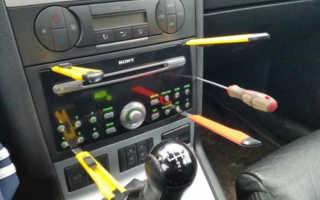Как снять магнитофон с машины