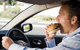 Что можно и чего нельзя есть за рулем