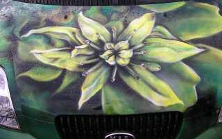 Аэрография цветок на авто: рисуем цветы на капоте машины
